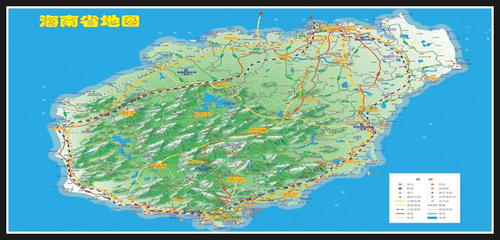 海南地形图