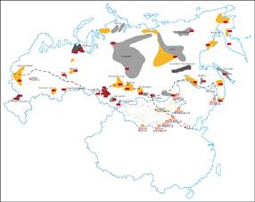 俄罗斯矿产分布图