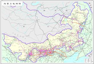 内蒙古电网图