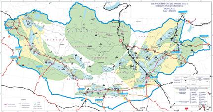 蒙古矿产分布图