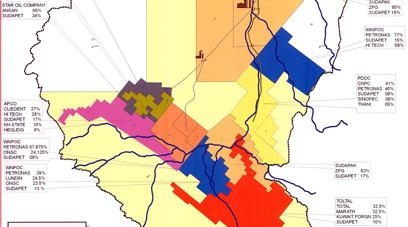 苏丹矿产图